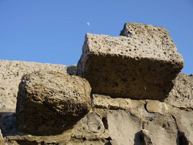 Granny's Teeth steps on the Cobb, Lyme Regis