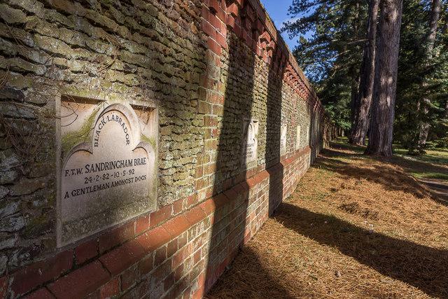 Dogs' Graves, Garden, Sandringham House, Norfolk