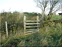 SE0023 : Stile on Hebden Royd FP113 west of Plod Well by Humphrey Bolton
