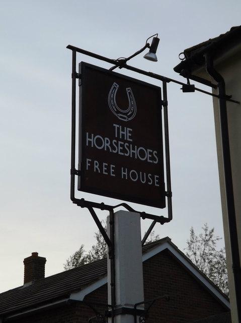 The Horseshoes Public House sign