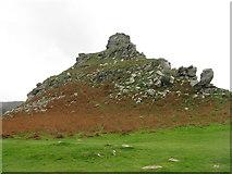 SS7049 : Castle Rock, Lynton by M J Richardson