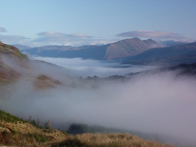 Autumn mist in the valleys