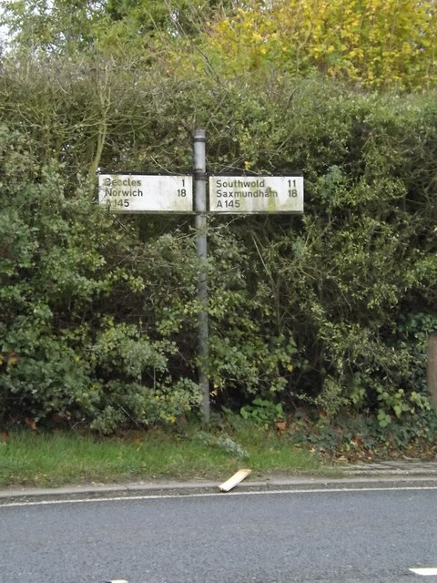 Roadsign on the A145 London Road