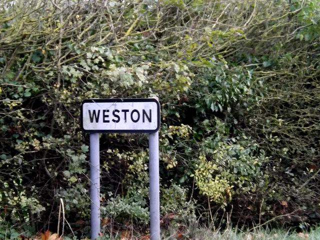 Weston Village sign