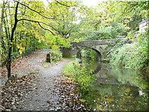 SE0424 : Bridge No.3, Rochdale Canal by Humphrey Bolton