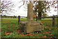 TF0306 : Burghley cross by Richard Croft