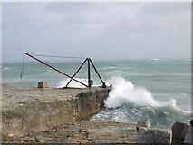 SY6768 : Rough seas off Portland Bill by sue hogben