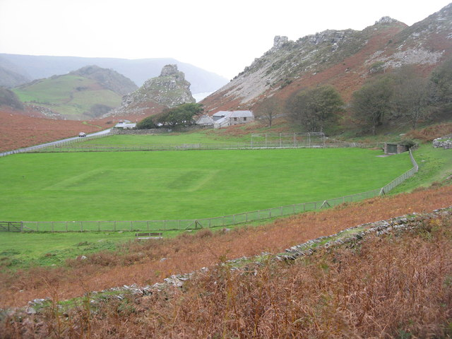 Cricket ground in The valley of Rocks