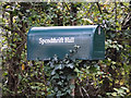 TM3770 : Spendthrift Hall sign & mailbox by Adrian Cable