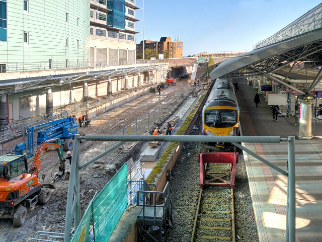 Metrolink Construction at Manchester Airport Station
