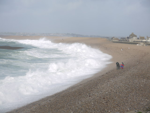 St Jude storm in Chesil Cove Portland