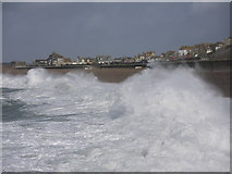 SY6873 : Storm waves Chesil Cove Portland by sue hogben