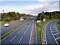 SJ8086 : M56 Junction 5 (Manchester Airport) by David Dixon