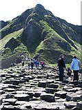 C9444 : The upper end of the Giant's Causeway backed by Aird Snout by Eric Jones