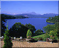 NN4801 : Loch Ard and Ben Lomond from Dun Dubh House by Leslie Williamson