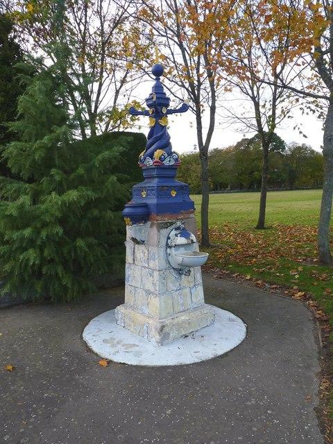 Colourful fountain