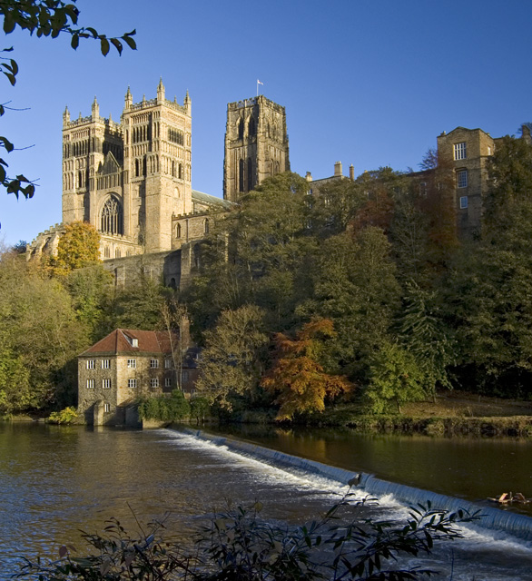 Museum weir and Cathedral, Durham