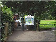 SP2865 : Gate into Warwick Children's Centre and Nursery School by Robin Stott