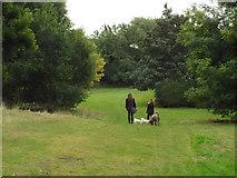 SP2865 : Dog-walking after school, Priory Park, Warwick by Robin Stott
