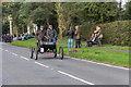 TQ2728 : 1902 Oldsmobile passes through Staplefield Village Centre, Sussex by Christine Matthews