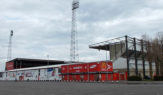 West side of the County Ground, Swindon