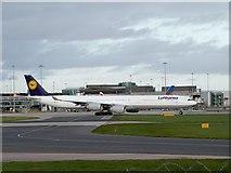 SJ8184 : Airbus A340 at Manchester Airport by David Dixon