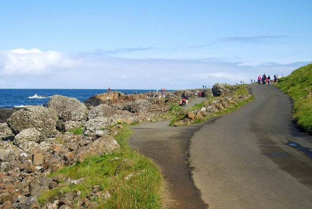 Road approaching the Giant's Causeway