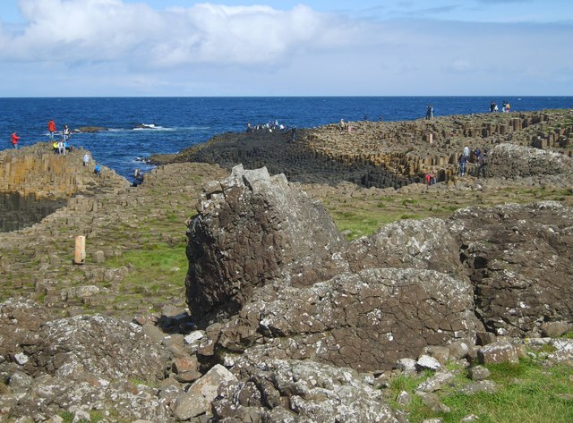The Middle Causeway and the Giant's Causeway from the road