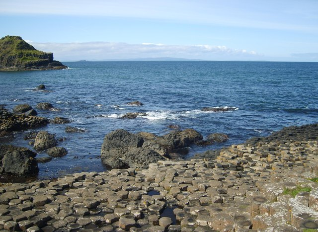 Part of the western edge of the Giant's Causeway