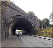 SS6593 : Under a railway viaduct near Swansea station by Jaggery
