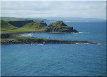 C9444 : The Giant's Causeway and the Great Stookan from the cliffs above Port Noffer by Eric Jones