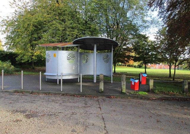 King George V Park - shelter & dog waste bins, Lawnswood Road, Wordsley, Stourbridge