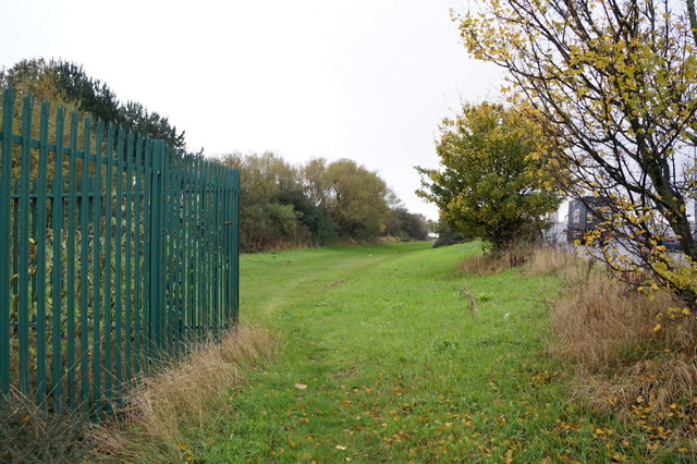 A grass area off Garrison Road, Hull