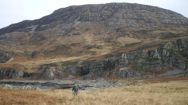 Looking back to Cruach Scarba from west of the Allt a' Choire Bhuidhe