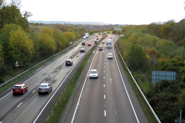 The A34 looking southbound