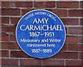 J3175 : Amy Carmichael plaque, Belfast by Albert Bridge