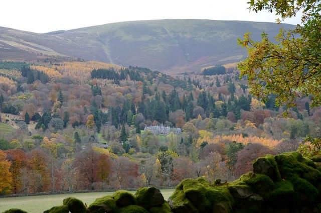 Dawyck House and woodland