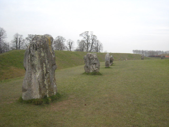 Standing stones in the northern part of Avebury stone circle