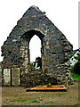G9278 : Donegal Town Harbour Area - Friary Ruin and Three Gravesites near a Home by Joseph Mischyshyn