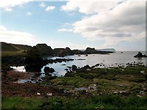 D0345 : View west across a wave cut platform to the Little Isles of Camplie by Eric Jones