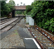 SP1955 : Weights on the track at Stratford-upon-Avon railway station by Jaggery