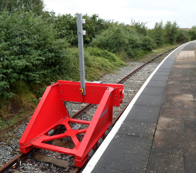 Red buffer stop detail, Stratford-upon-Avon railway station