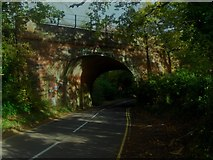 TQ3853 : Bridge 516 carrying the Oxted line railway by Ed of the South