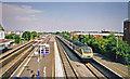 TQ0179 : Langley (Bucks.) station, with IC125 train by Ben Brooksbank