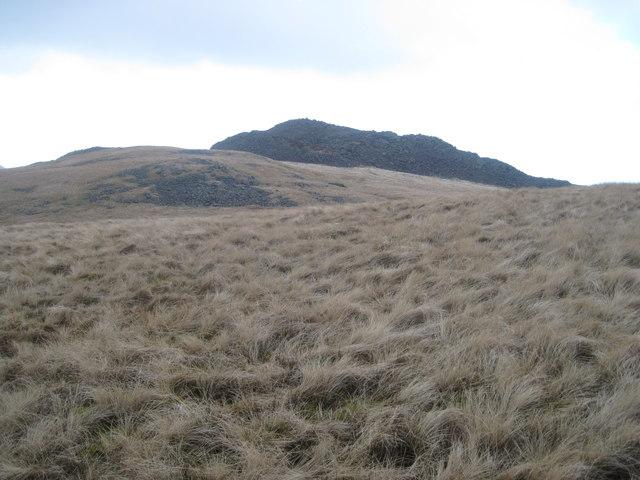 Looking towards the summit of Gyrn Ddu
