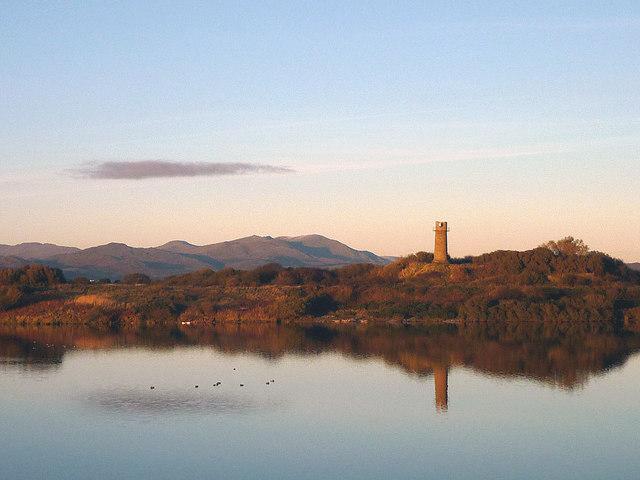 November reflections on the lagoon, Hodbarrow