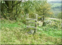 SE0023 : Stile on a branch of Hebden Royd FP106 by Humphrey Bolton