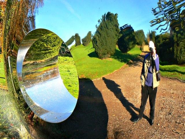 Reflection in the Cricket Portal, Cricket St Thomas, Chard