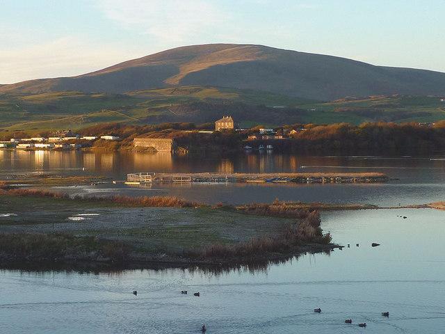 The lagoon at Hodbarrow