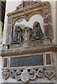 TQ7468 : Memorial to William Streaton, Rochester Cathedral by Julian P Guffogg